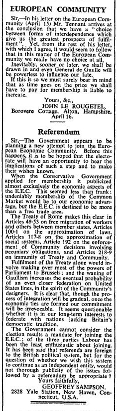 Times letter